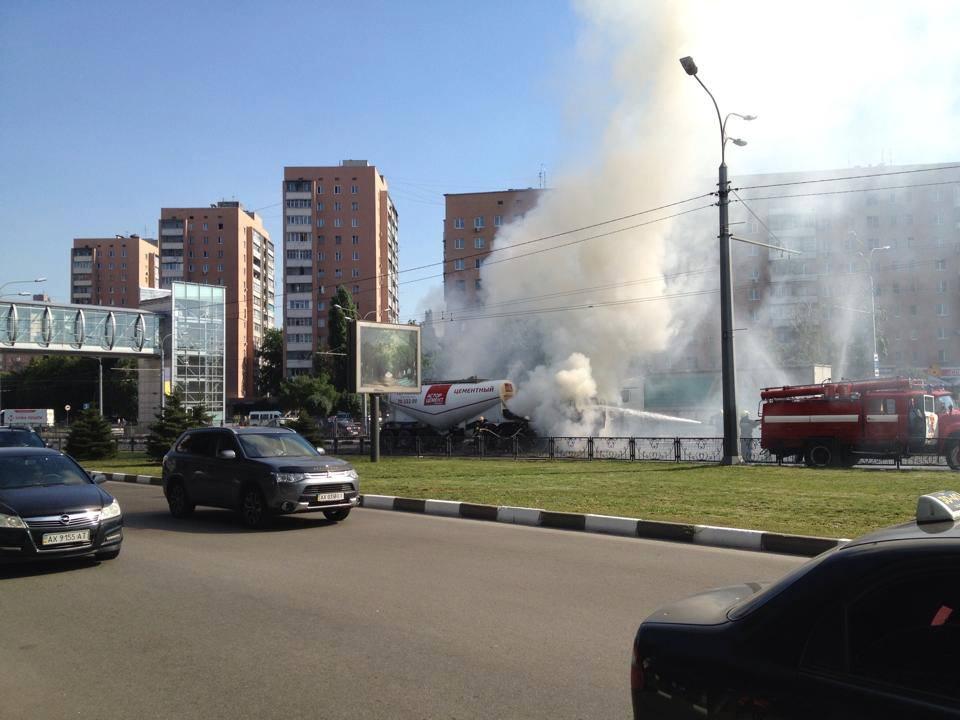 Спецмашина дала жару на проспекте Гагарина (ФОТО)