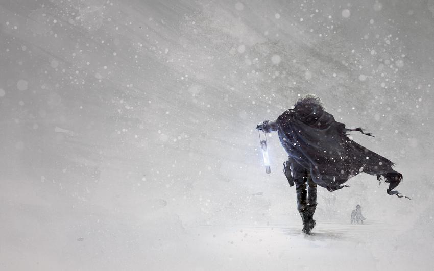 Снегопад обрушился на Харьков (видео)