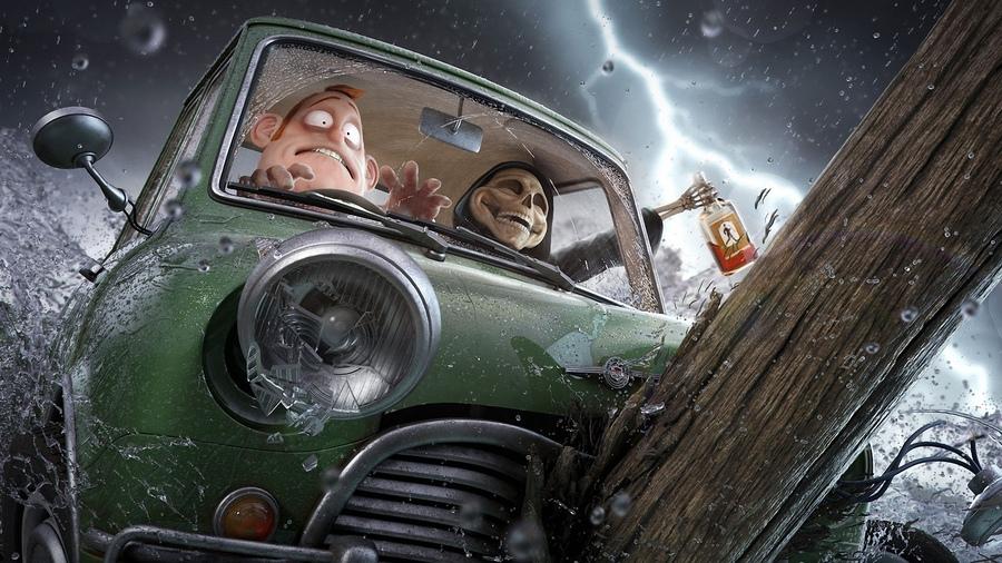 Харьковская красотка заставила копов толкать машину (ФОТО, ВИДЕО)