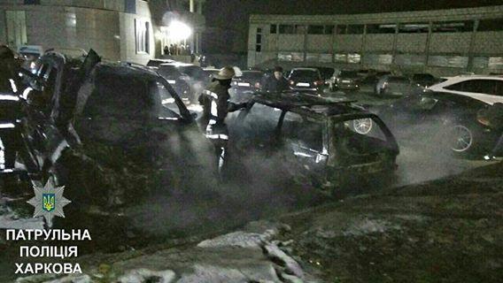 В полиции рассказали, почему сгорели автомобили на Салтовке (ФОТО)