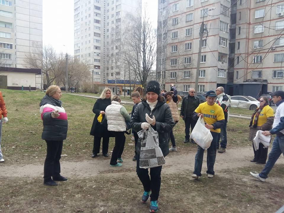 Харьковчан выгнали на улицу (фото)