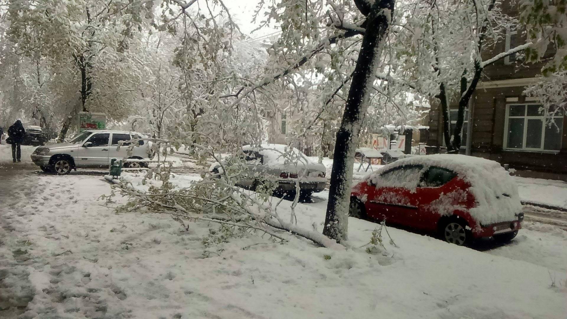 Непогода подложила свинью автомобилистам в Харькове (фото)