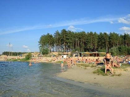 фото пляж безлюдовка харьков