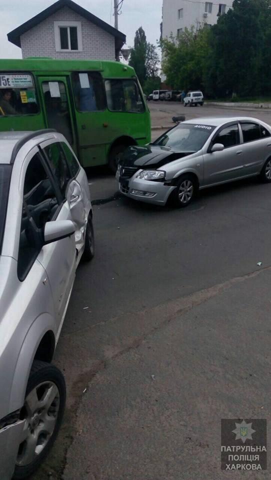 Авария в Харькове. Пострадали две девушки (фото)