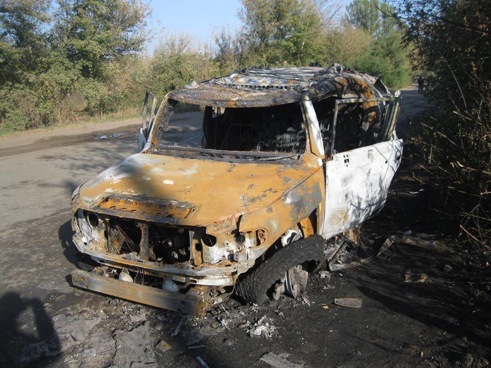 Вселе под Харьковом изгранатомета расстреляли машину