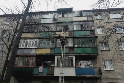 Пожар в многоэтажке. Людей эвакуировали (фото)