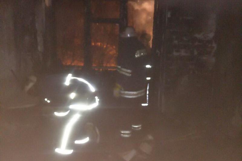 Крупный пожар произошел в Харькове (фото)