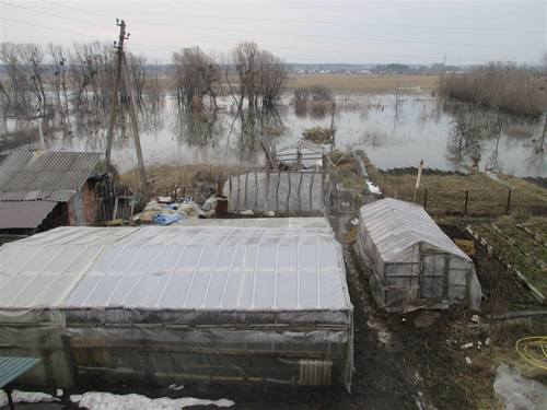Река вышла из берегов в Харьковской области (фото)
