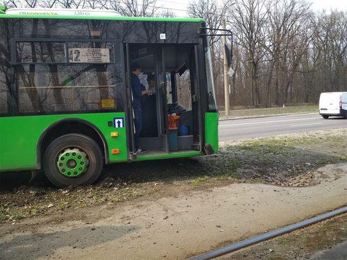 В Харькове у троллейбуса отказали тормоза (фото)