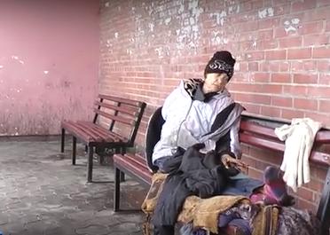 Женщина из Харьковской области несколько дней прожила в общественном месте
