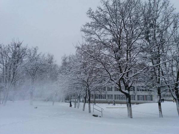 Снегопад обрушился на Харьков (видео, дополнено)