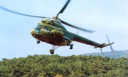 Падающий вертолет покалечил зрителя