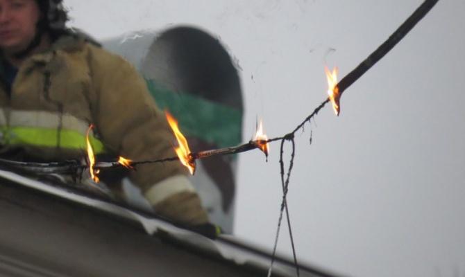 В Харькове загорелись провода (ФОТО, ВИДЕО)