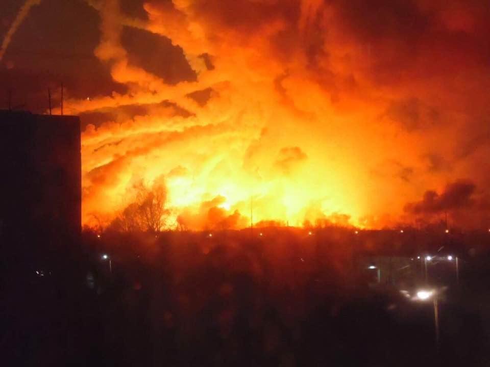 Взрывы на Харьковщине. Опубликовано видео