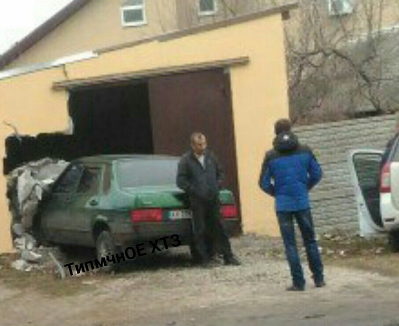 Загадочная авария произошла в Харькове (фото)