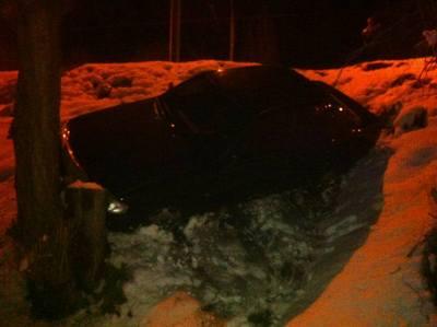 Автомобиль упал с моста в Харькове (фото)