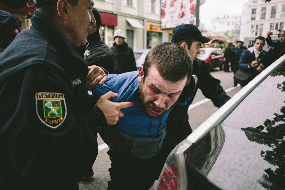 Зачинщиков беспорядков в центре Харькова отпустили