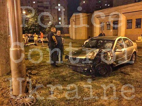 Полицейский начальник устроил ДТП в Харькове (фото)
