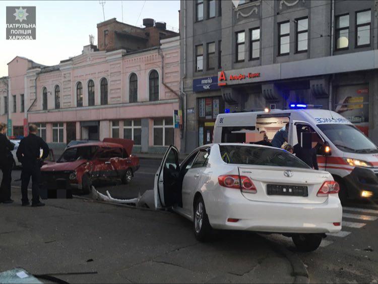 ДТП в центре Харькова. Машины всмятку (фото)