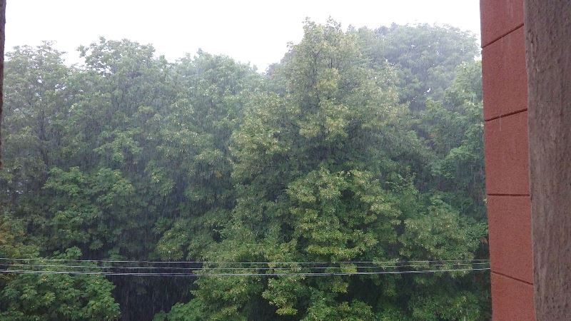 На Харьков обрушился страшный ливень (видео)