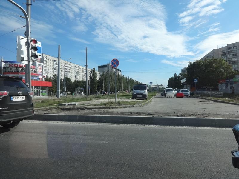 На Салтовке водителей лишили удобств (фото)