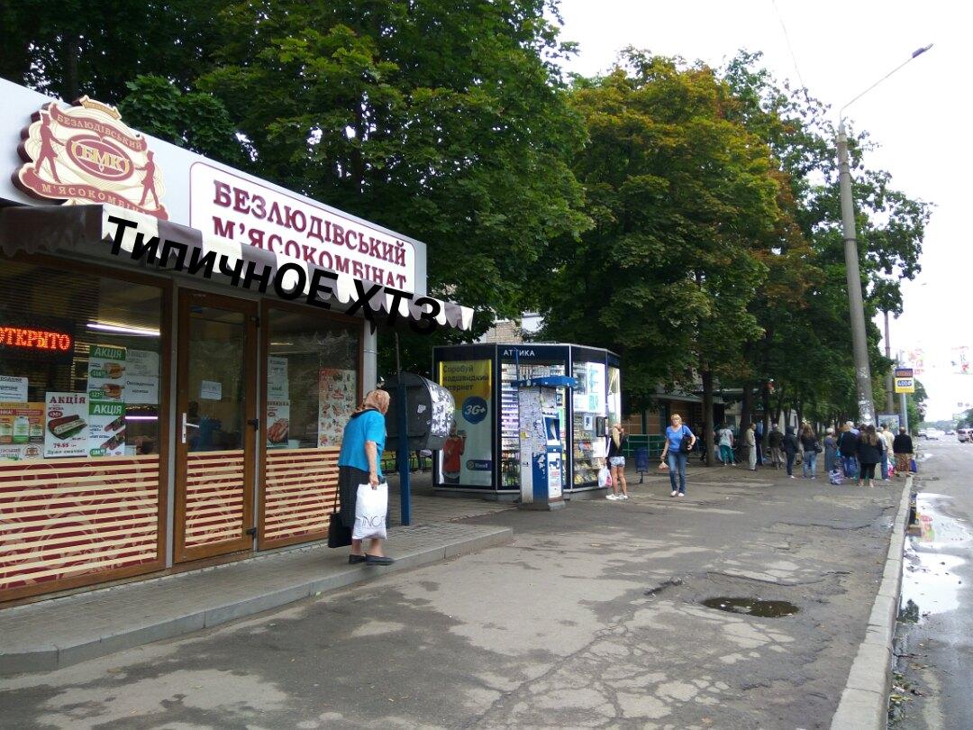Продавец мясного магазина в Харькове ударила покупательницу (видео)