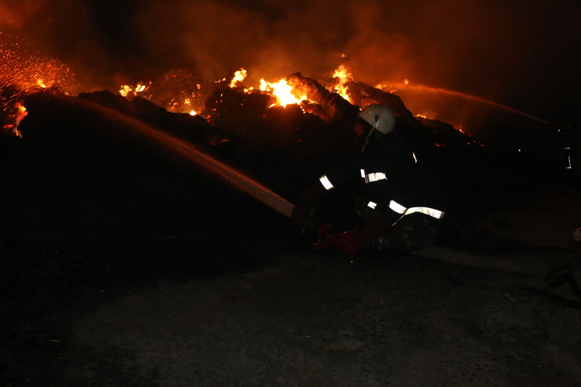 Самолеты, вертолет и поезд. Спасатели рассказали подробности тушения масштабного пожара (видео)