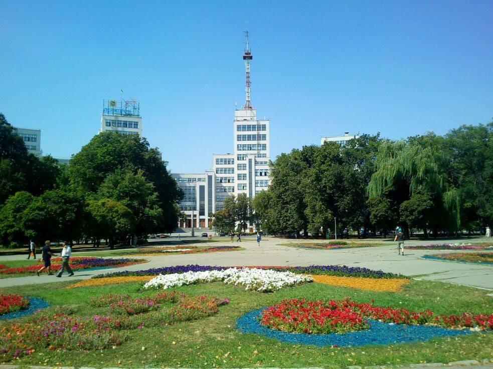 Центр Харькова окутали необычные узоры (фото)