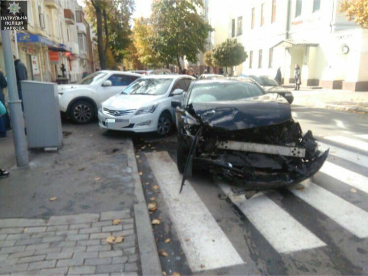 Массовая авария в центре Харькова. Пострадали несколько человек (фото)