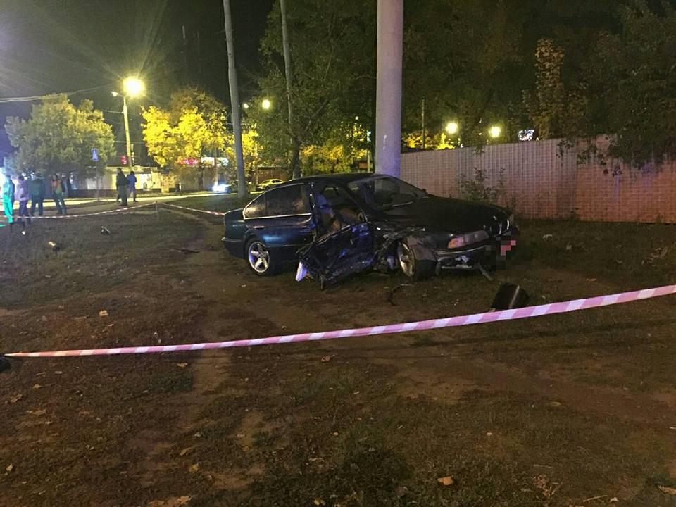 Опубликовано видео смертельной аварии на Салтовке