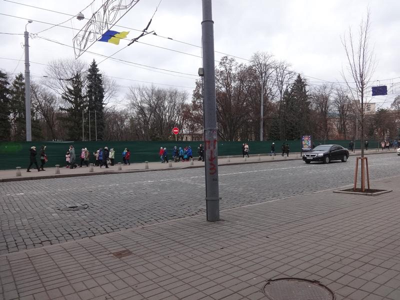 Харьковчанам устроили принудительный квест (фото)