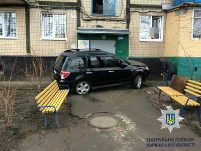 Необычная авария произошла в Харькове (фото)