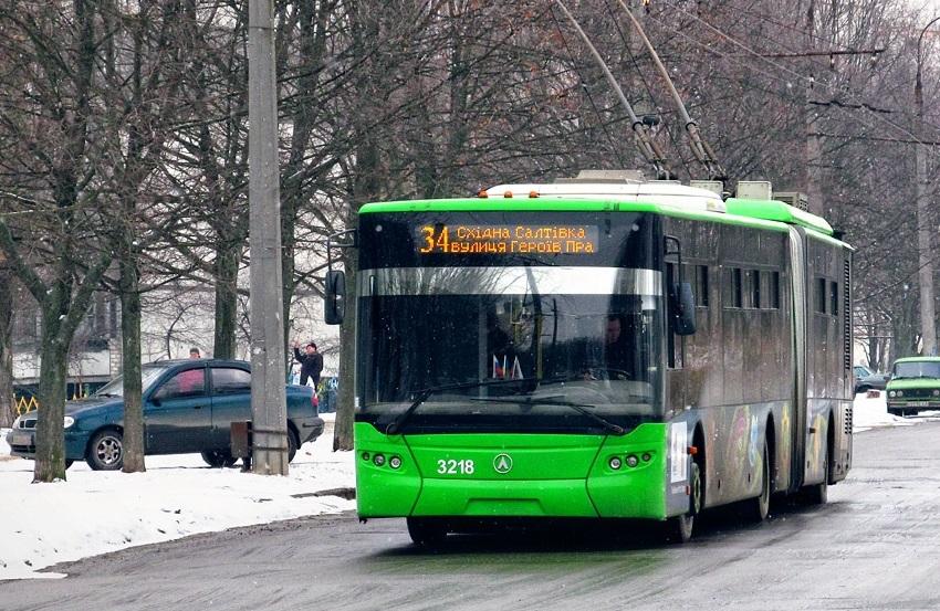 Троллейбусы остановились в Харькове (фото)