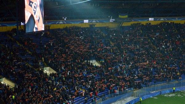 Двум людям стало плохо во время матча «Шахтера» против «Ромы» в Харькове