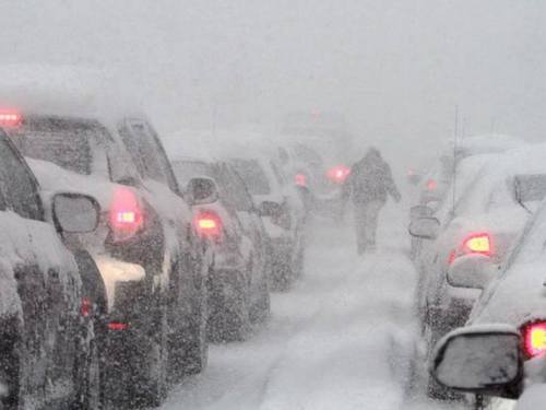 Снегопад надвигается на Харьков