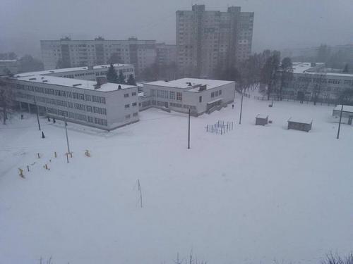 Снегопад накрыл Харьков (видео)