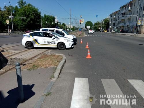 В Харькове старушка попала под трамвай (фото)