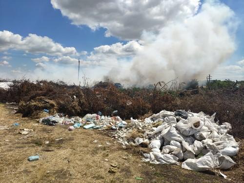 ЧП в Харьковской области: загорелись тонны мусора (фото, видео)
