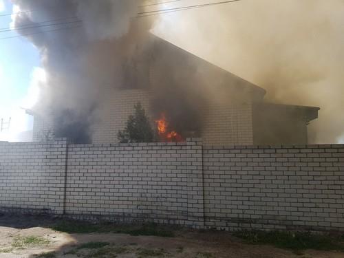 Масштабный пожар на Харьковщине: дом выгорел дотла (фото)