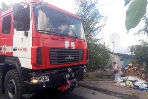 Масштабный пожар под Харьковом: жители села оказались в опасности (фото)