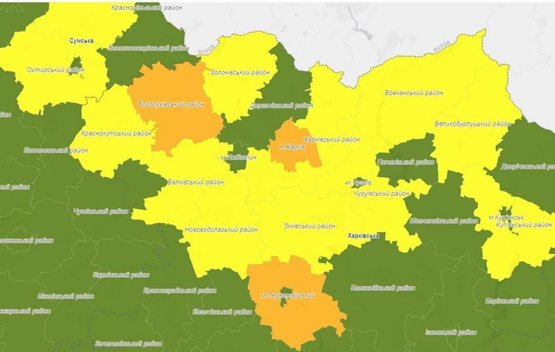 Харьковщина заняла незавидную позицию на новой карантинной карте