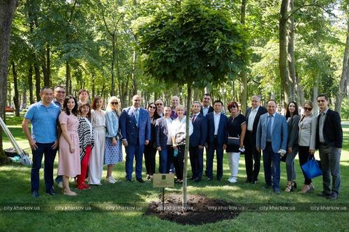 У иностранных дипломатов в Харькове появилось дерево содружества