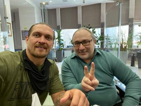 Кернес встретился с боксером Усиком (фото)