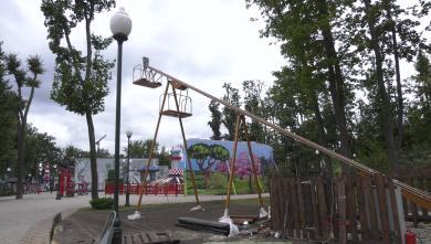 Новый аттракцион заработал в Харькове (видео)