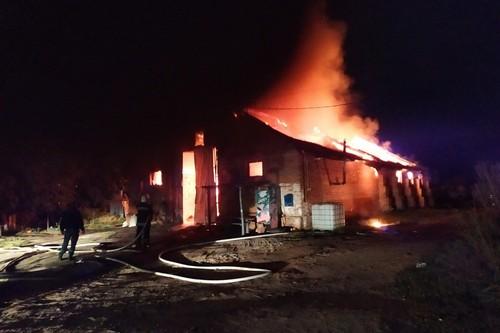Зарево и вырывающиеся языки пламени: на Харьковщине произошел масштабный пожар (фото)