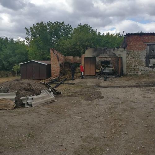 Под Харьковом сгорела иномарка