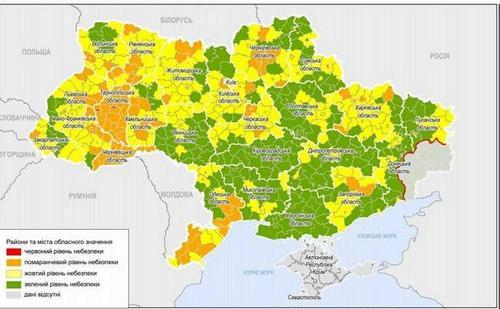 Новое карантинное зонирование: что поменялось на карте Харьковщины