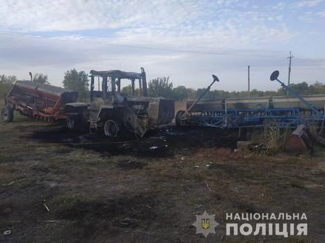 На Харьковщине уничтожили спецтранспорт (фото)