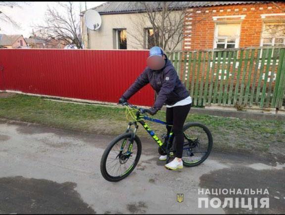 """На Харьковщине задержали """"велосипедиста"""" (фото)"""