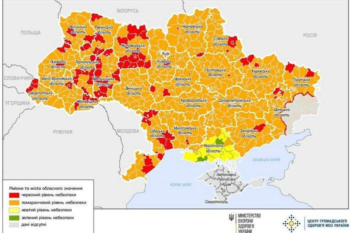Новое карантинное зонирование: что разрешено в Харькове и двух «красных» районах